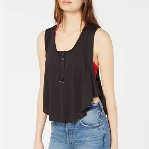 FREE PEOPLE Relaxed Fit Cropped Tank Top Gym M